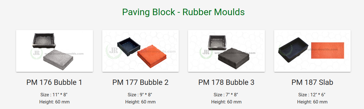 rubber paver moulds for paver blocks
