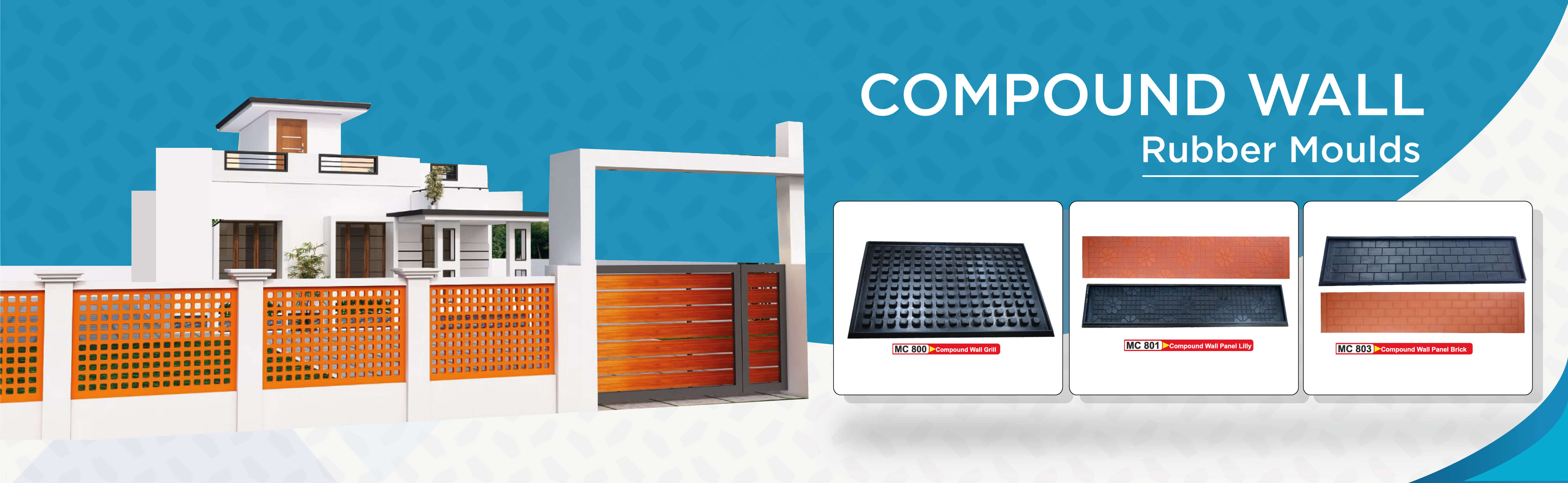 compound wall grill rubber moulds in Kerala,